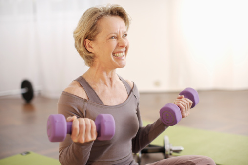 older woman exercise