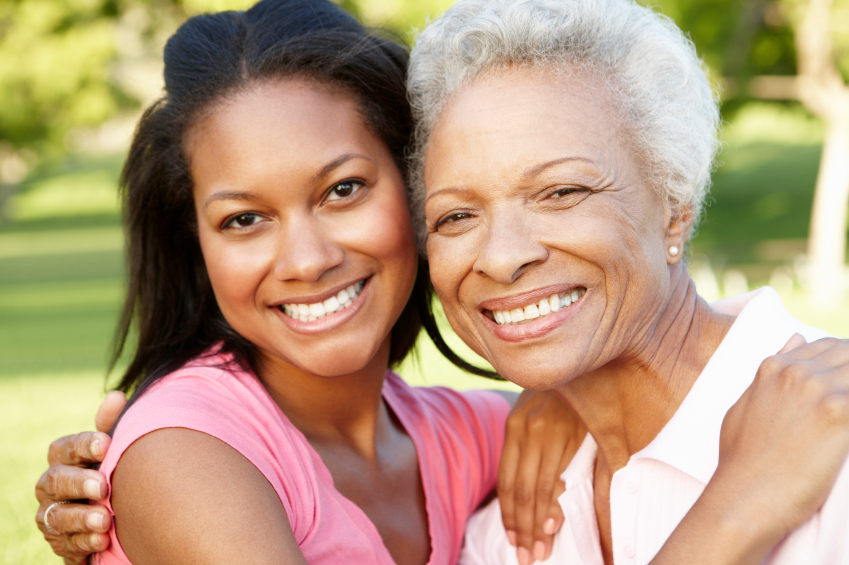mother daughter african american small